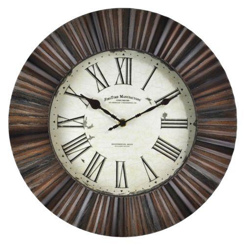 FirsTime Hewn Burst Wall Clock