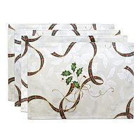 Lenox Holiday Nouveau Holly Leaf Placemat 4-pk.