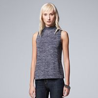 Women's Simply Vera Vera Wang Simply Separates Marled Mockneck Top
