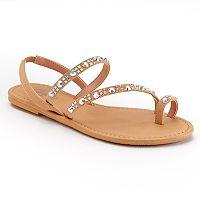 Candie's® Rhinestone Sandals
