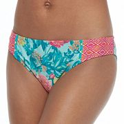 Juniors' Social Angel Floral Hipster Bikini Bottoms