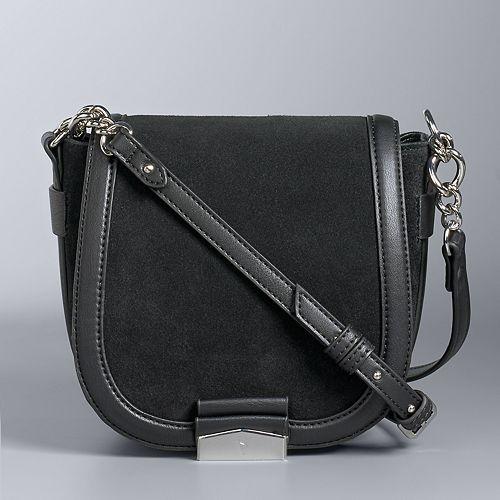 Simply Vera Vera Wang Monte Suede Saddle Bag