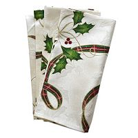 Lenox Holiday Nouveau Holly Leaf Napkin 4-pk.