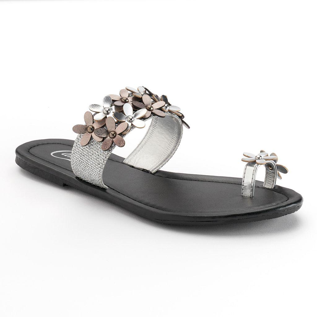 Candie's® Floral Strap Sandals
