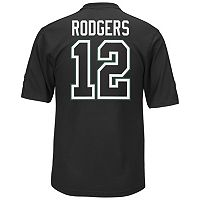Men's Majestic Green Bay Packers Aaron Rodgers Hashmark Player Top