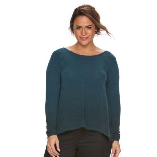 Plus Size Rock & Republic® Crisscross-Back Sweater