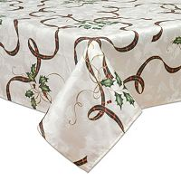 Lenox Holiday Nouveau Holly Leaf Tablecloth