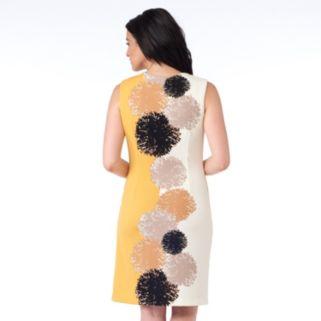 Women's ILE New York Abstract Print Sheath Dress