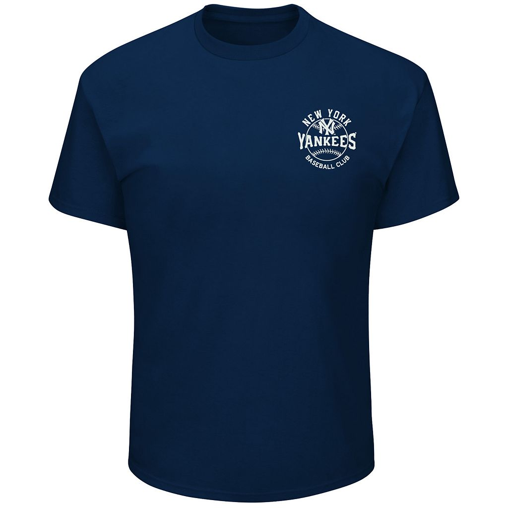 Men's Majestic New York Yankees Wave The Pennant Tee