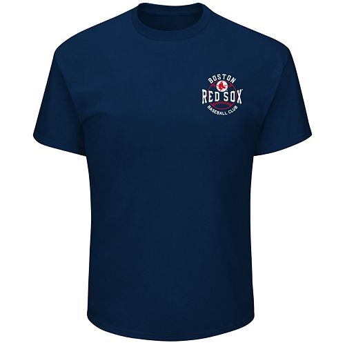Men's Majestic Boston Red Sox Wave The Pennant Tee