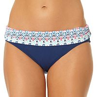 Women's Cole of California Ikat Fold-Over Bikini Bottoms