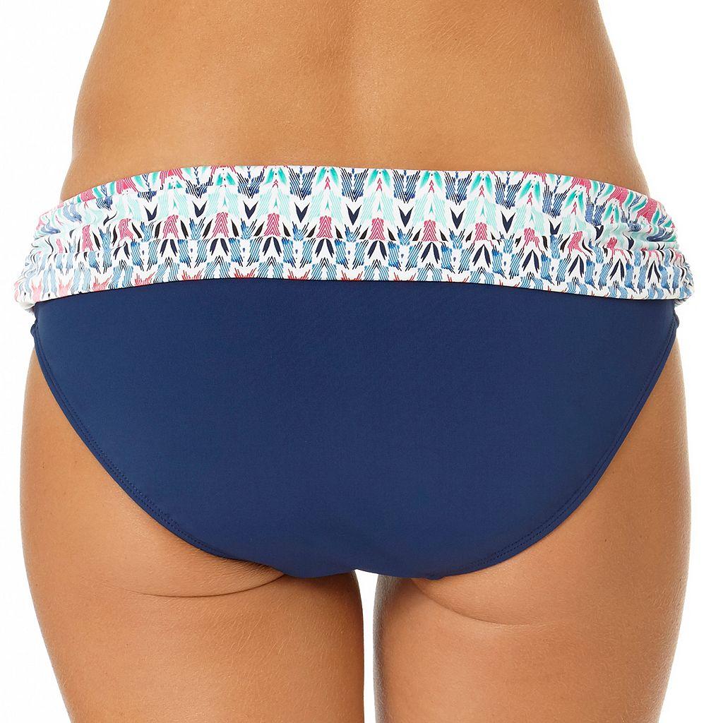 Women's Cole of California Ikat Fold-Over Bikini Bottoms