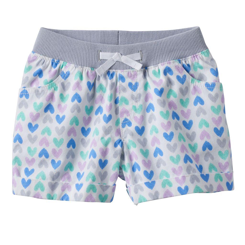Girls 4-10 Jumping Beans® Heart Print Shorts