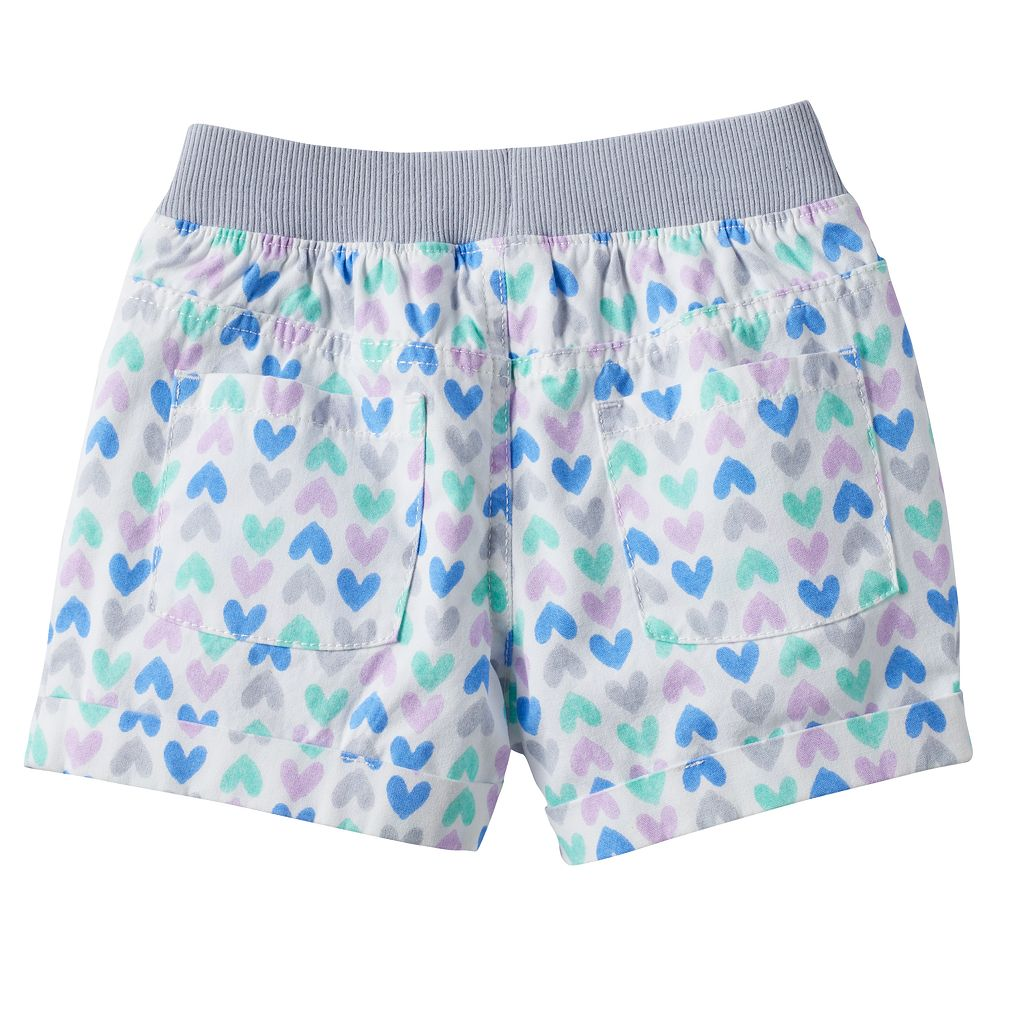 Girls 4-10 Jumping Beans® Heart Print Shorts