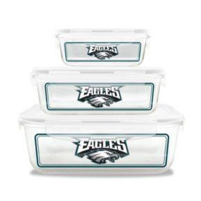 Philadelphia Eagles 3-Piece Glass Food Container Set