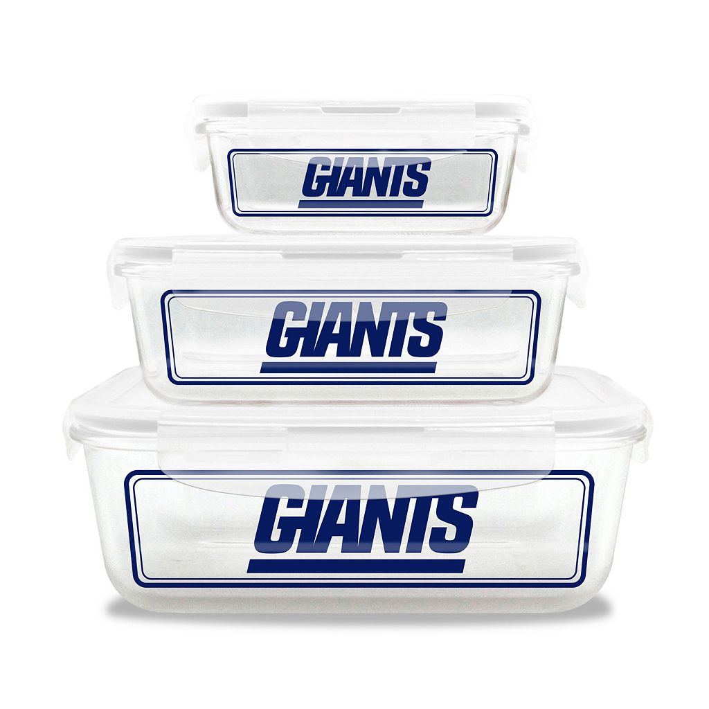 New York Giants 3-Piece Glass Food Container Set
