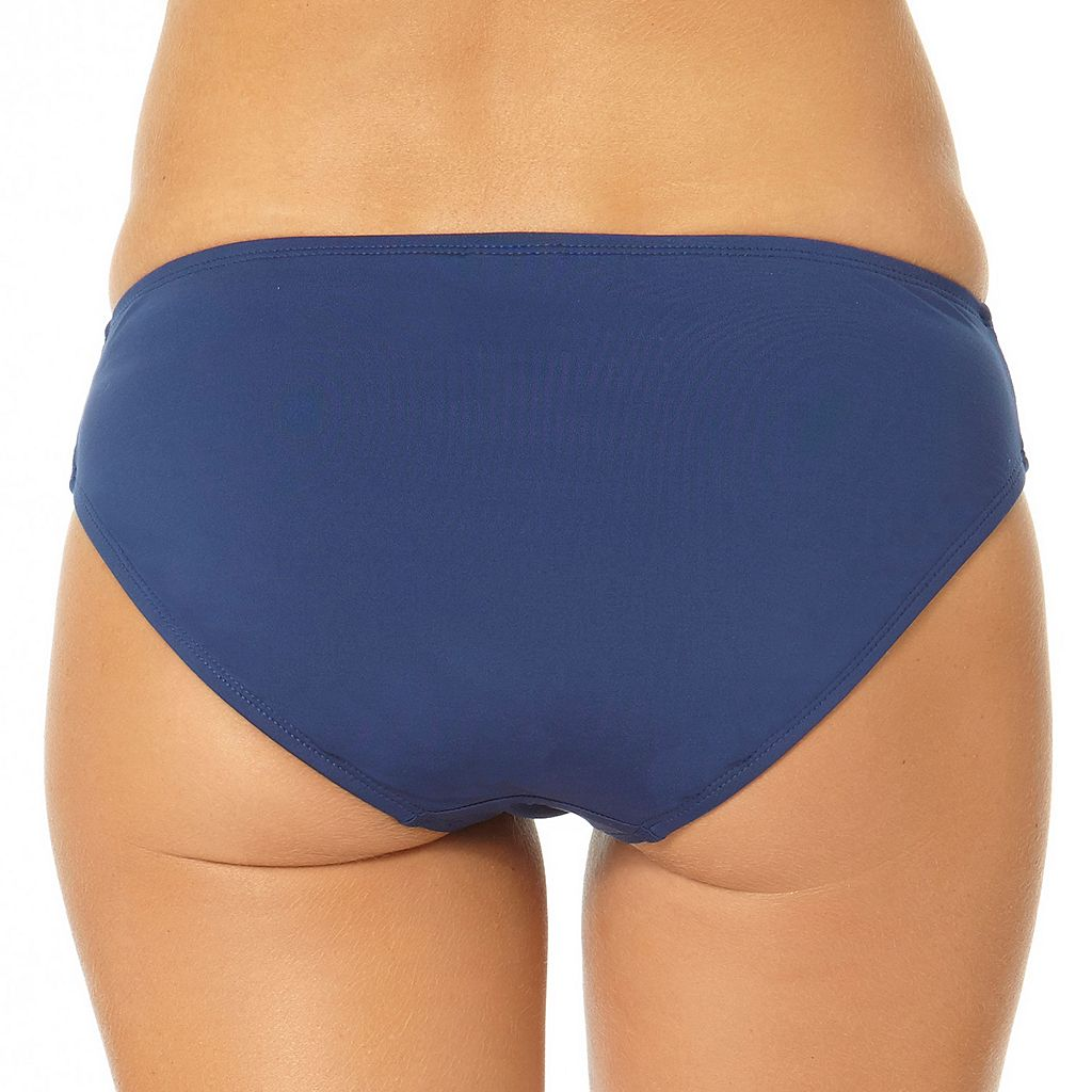 Women's Cole of California Shirred Scoop Bikini Bottoms
