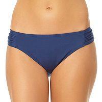 Women's Cole of California Shirred Scoop Bikini Bottoms