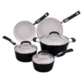 Hamilton Beach 8-pc. Aluminum Cookware Set - Black