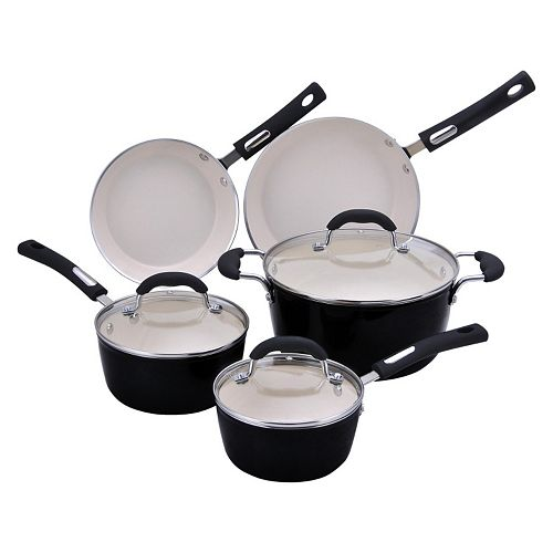 Hamilton Beach 8-pc. Aluminum Cookware Set - Black