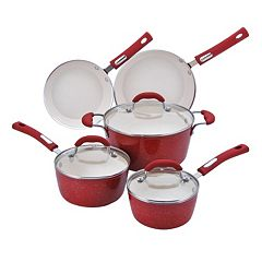 Hamilton Beach 8 pc Aluminum Cookware Set - Red