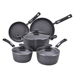Hamilton Beach 8 pc Aluminum Cookware Set - Gray