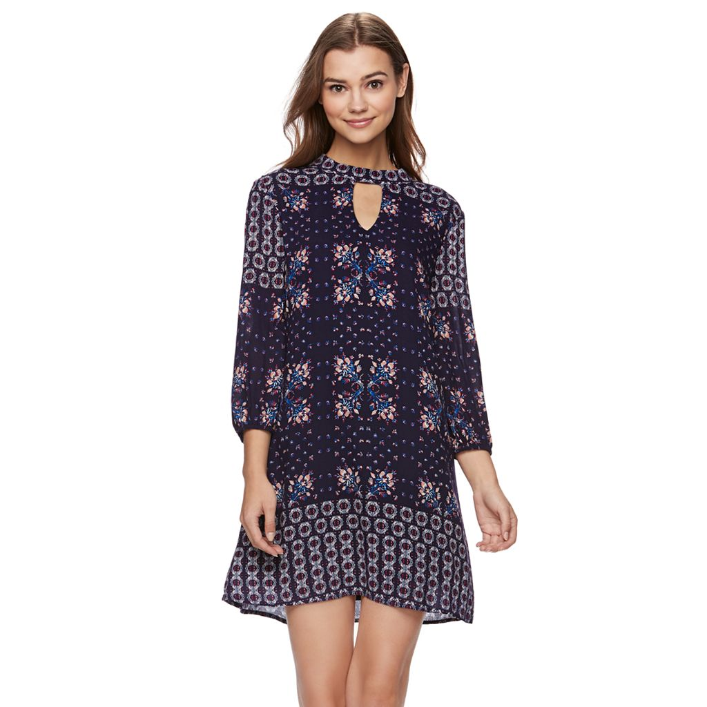 Juniors' Lily Rose Floral Swing Dress