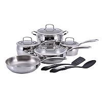 Hamilton Beach 11 pc Stainless Steel Cookware Set