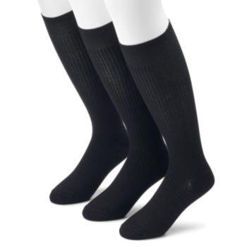 Men's Croft & Barrow® Opticool Textured Over-the-Calf Socks