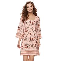 Juniors' Lily Rose Floral Lattice Back Swing Dress