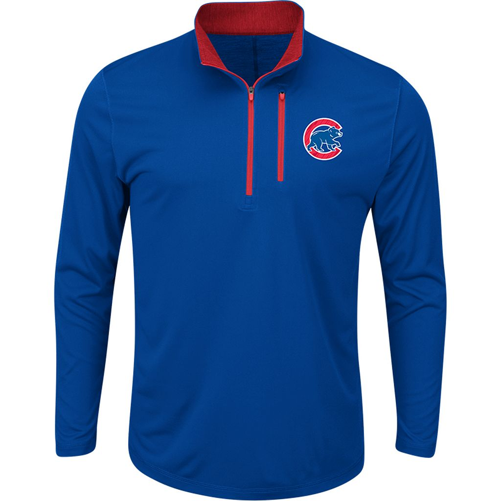 Men's Majestic Chicago Cubs Six Three Four Pullover