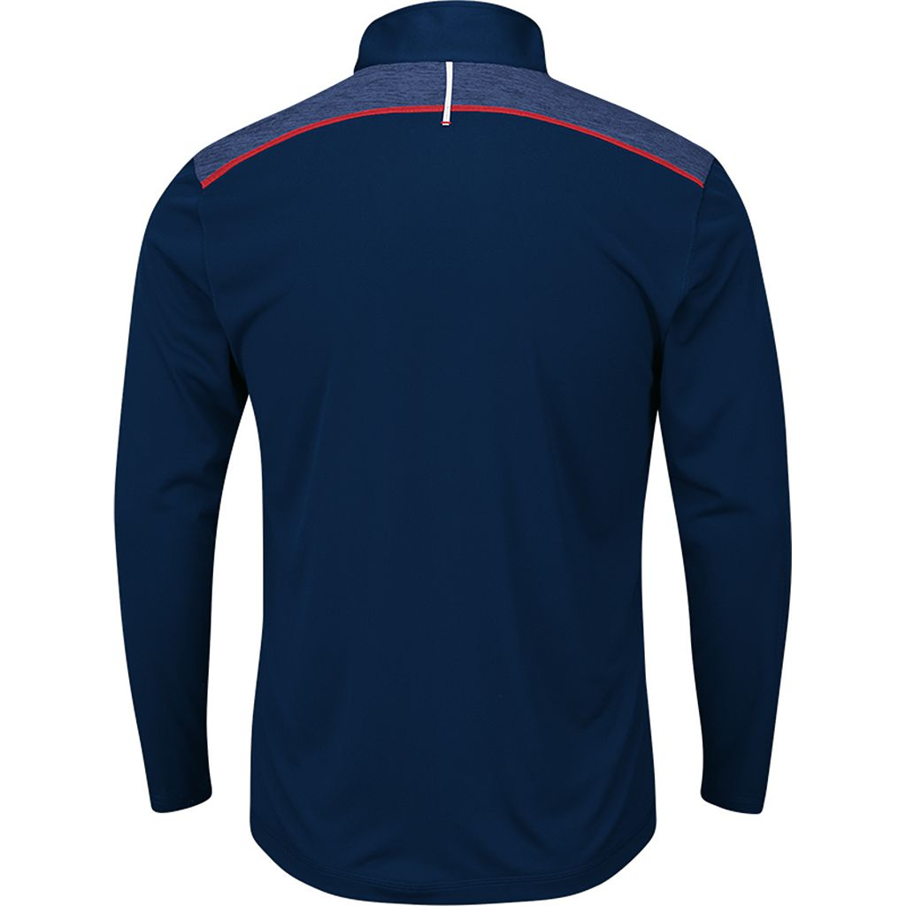 Men's Majestic Cleveland Indians Six Three Four Pullover