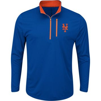 Men's Majestic New York Mets Six Three Four Pullover
