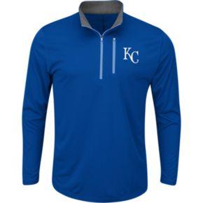 Men's Majestic Kansas City Royals Six Three Four Pullover