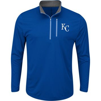 Men's Majestic Kansas City Royals Six Three Four Pullover