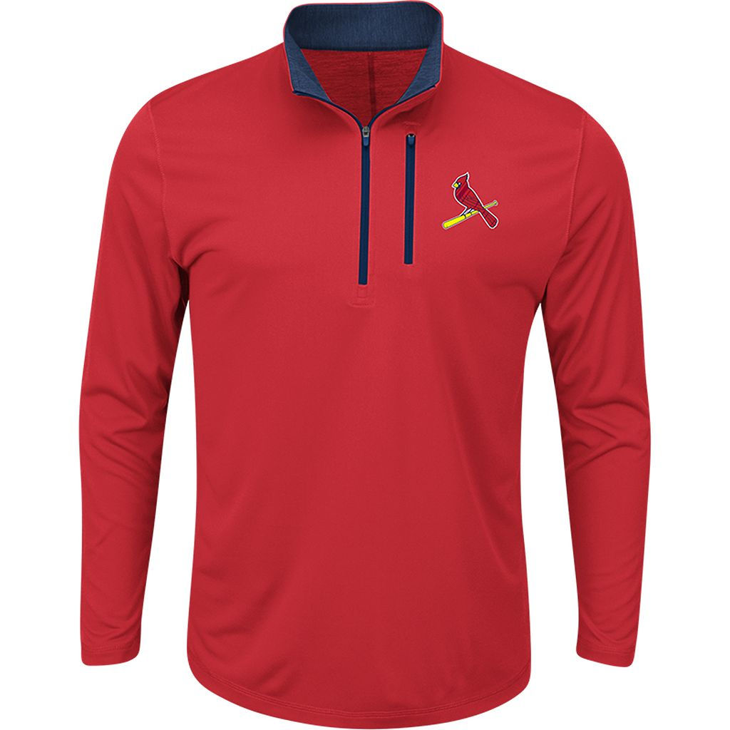 Men's Majestic St. Louis Cardinals Six Three Four Pullover