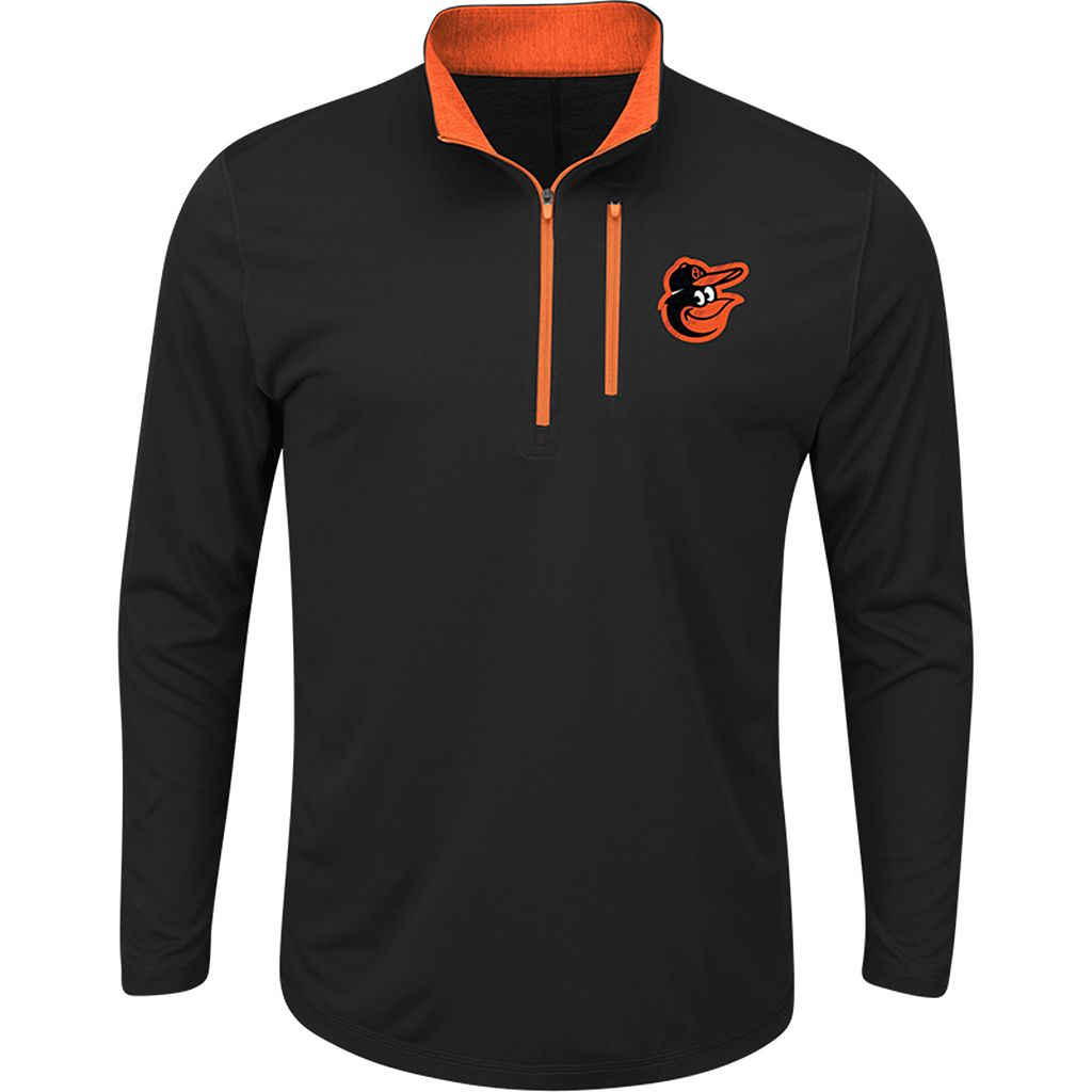 Men's Majestic Baltimore Orioles Six Three Four Pullover