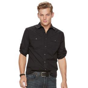 Men's Rock & Republic Solid Stretch Ripstop Button-Down Shirt