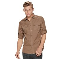 Men's Rock & Republic Solid Stretch Ripstop Button-Down Shirt