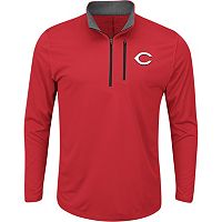 Men's Majestic Cincinnati Reds Six Three Four Pullover