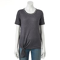 Women's Juicy Couture Embellished Tie Tee