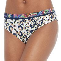 Juniors' Social Angel Animal Print Bikini Bottoms