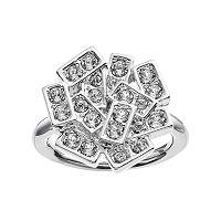 Simply Vera Vera Wang Rectangle Ring with Swarovski Crystals