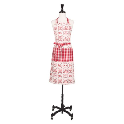 KAF HOME Christmas Plaid Apron