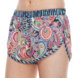 Juniors' Social Angel Paisley Soft Shorts
