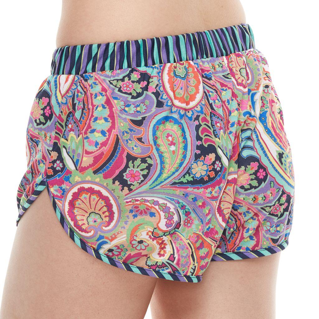 Juniors' Social Angel Paisley Soft Shorts