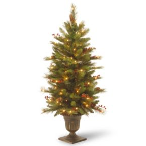 National Tree Company 4 ft. Artificial Long Needle Natural Pine Cone Entrance Christmas Tree