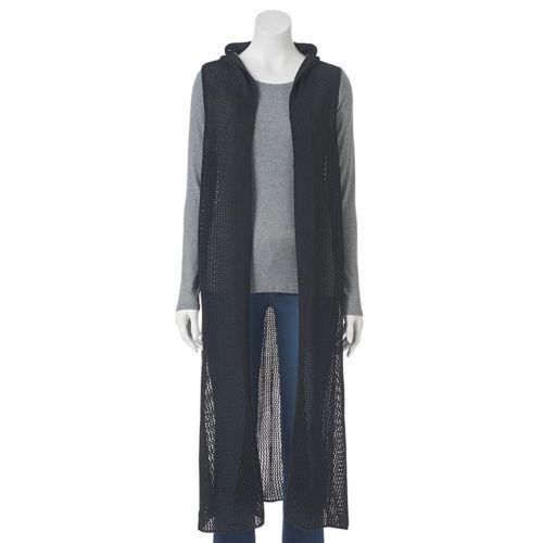 SONOMA Goods for Life™ Open-Weave Knit Duster Vest