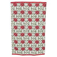 KAF HOME Molly Hatch Poinsettia Kitchen Towel 2-pk.