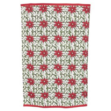 KAF HOME Molly Hatch Poinsettia Kitchen Towel 2-pk.